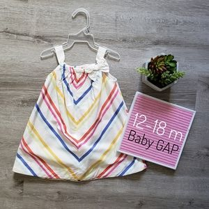 BABY GAP candy striped bow sweet dress